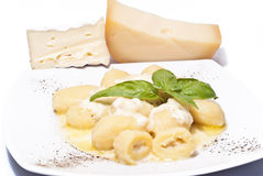Gnocchi stuffed with four cheeses Stock Images