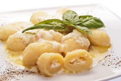 Gnocchi stuffed with four cheeses Stock Photography