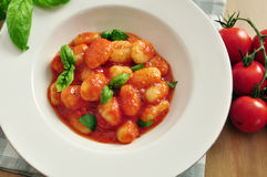 Gnocchi with tomato sauce Stock Image