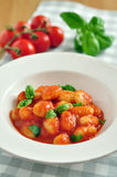 Gnocchi with tomato sauce Stock Images