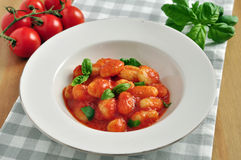 Gnocchi with tomato sauce Stock Photo