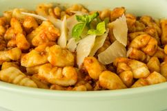 Gnocchi with tomato sauce Stock Photos