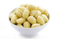 Gnocchi  on a white background Royalty Free Stock Photography