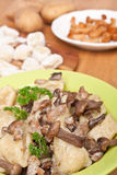 Gnocchi with Wild Mushrooms Stock Photography