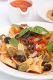 Gnocchi with Wild Mushrooms Royalty Free Stock Photos