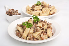Gnocchi with Wild Mushrooms Royalty Free Stock Images