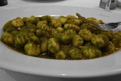 Gnocchi z Pesto Genovese fotografia stock