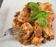 Gnocci and beef pie Royalty Free Stock Image