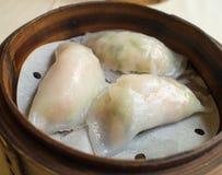 Gnocco nel canestro, alimento cinese Immagini Stock Libere da Diritti