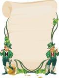 Gnom and paper. Irish holiday Royalty Free Stock Image