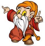 Gnome & roupa vermelha ilustração do vetor