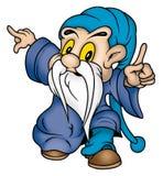 Gnome & blue clothing royalty free illustration