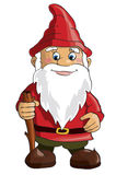 Gnome. Cartoon gnome on white background. Vector Stock Photography