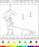 Gnome che cammina con la talpa Immagini Stock