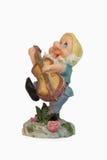 Gnome che gioca chitarra Fotografia Stock Libera da Diritti