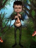Gnome che gioca uno strumento musicale Fotografie Stock