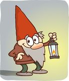 Gnome com lanterna ilustração do vetor