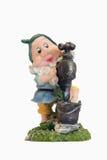 Gnome con il rubinetto di acqua della mano Fotografia Stock Libera da Diritti