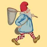 Gnome de bande dessinée sur le fond blanc Vecteur Photos stock