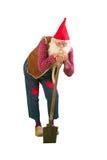 Gnome de jardin avec la pelle Photo libre de droits