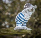Gnome de jardin de plongée Photos libres de droits