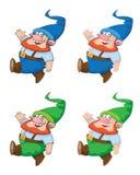 Gnome de marche Images libres de droits