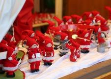 Gnome de rouge de Noël Image libre de droits