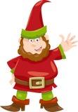 Gnome or dwarf cartoon illustration Royalty Free Stock Image