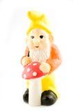 Gnome e cogumelo imagem de stock royalty free