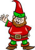 Gnome eller dvärgtecknad filmillustration Arkivfoto