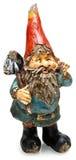 Gnome en bois adorable de jardin avec la pelle Photo stock