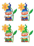 Gnome and flower. Illustration of a gnome and flower Stock Photos