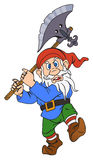 Gnome with a halberd Stock Images