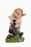 Gnome with hand water pump Royalty Free Stock Image