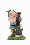 Gnome with hand water tap Royalty Free Stock Photo