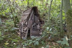 Gnome house made of natural wood in Coquitlam, BC Royalty Free Stock Image