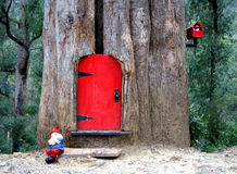 Gnome House in a tree. Fantasy gnome house in a tree in a forest Royalty Free Stock Photography