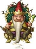 Gnome-König Stockfoto