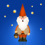 Gnome with lantern Stock Photos