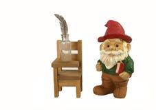 Gnome-Lehrer der Kalligraphie Lizenzfreies Stockfoto