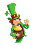Gnome leprechaun. Fairy-tale character for Saint Patricks Day Royalty Free Stock Photo