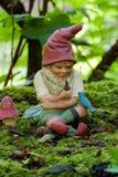 Gnome in lush garden Stock Photos