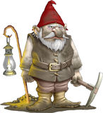 Gnome Miner Stock Photos