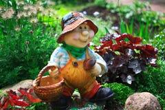 Gnome-mushroomer Stock Photos