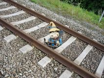 Gnome no trabalho Imagens de Stock