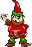 Gnome o illustrazione del fumetto del nano Fotografia Stock