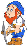 Gnome with pickaxe Royalty Free Stock Image