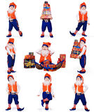 Gnome Prepearing Christmas Gifts Royalty Free Stock Image