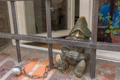 Gnome statue in wroclaw Stock Photos