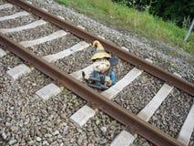 Gnome sul lavoro Immagini Stock